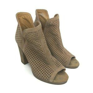 Lucky Brand Womens 7.5 Tan Suede Larise Booties